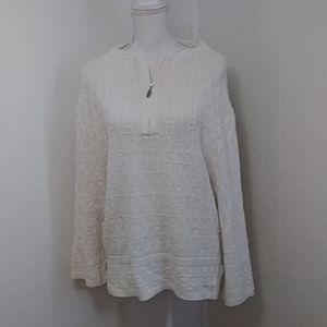 Cold water Creek M sweater shirt Henley collar